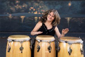 Linette Tobin black top 3 drums
